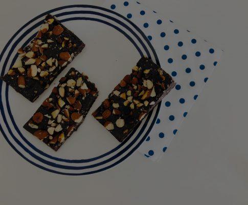 Leckere gesunde Brownies / ohne backen / glutenfrei /zuckerfrei!